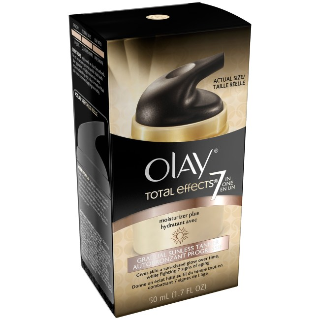 Olay ® Total Effects ® 7 in One Moisturizer Plus Gradual Sunless Tanner 1.7 fl. oz. Box