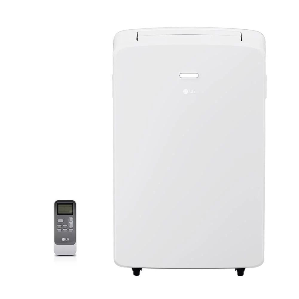 lg 6 500 btu 10 000 btu ashrae 115 volt portable air conditioner with remote factory refurbished walmart com