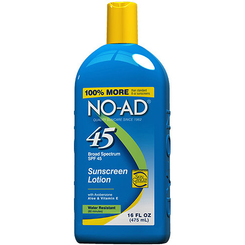 No-Ad Sunscreen Lotion SPF 45, 16.0 Fl Oz