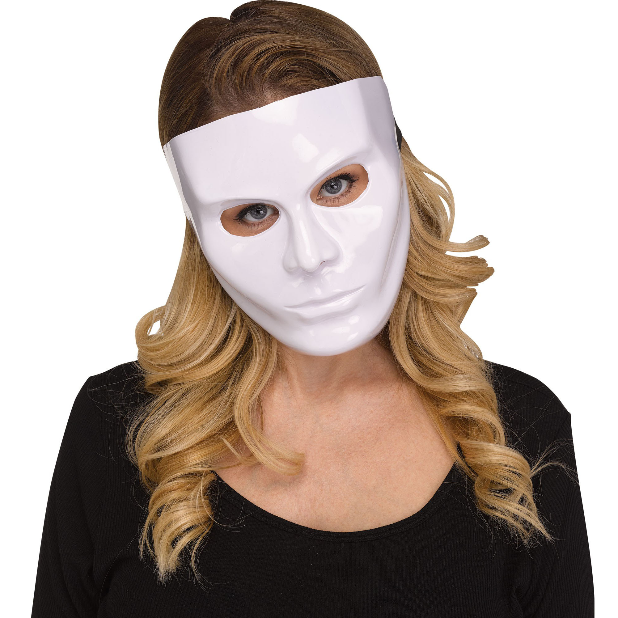 Fun World Solid Blank Female Face Halloween Costume Mask