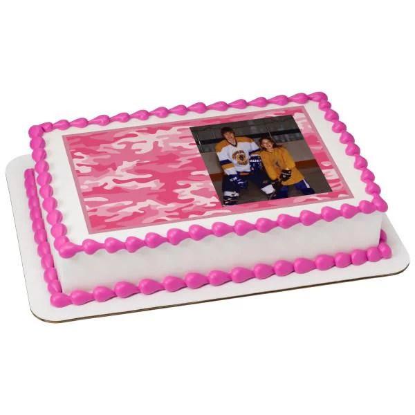 Pink Camo Hunting Edible Cake Topper Image Frame Walmart Com Walmart Com