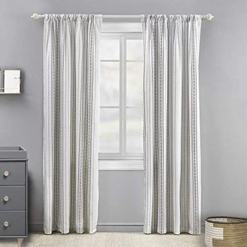 geometric stripe drape panel window