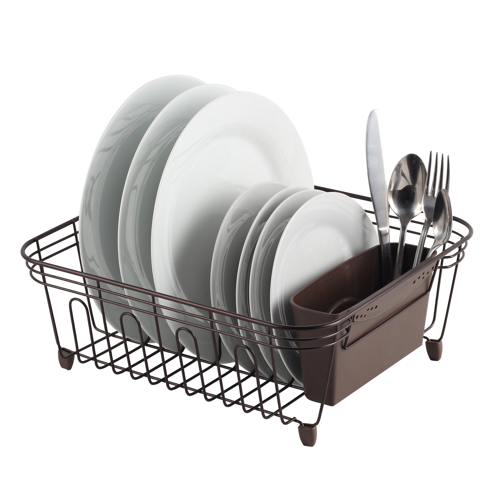 Real Home Innovations Deluxe Small Dish Drainer Oil Bronze Walmart Com Walmart Com