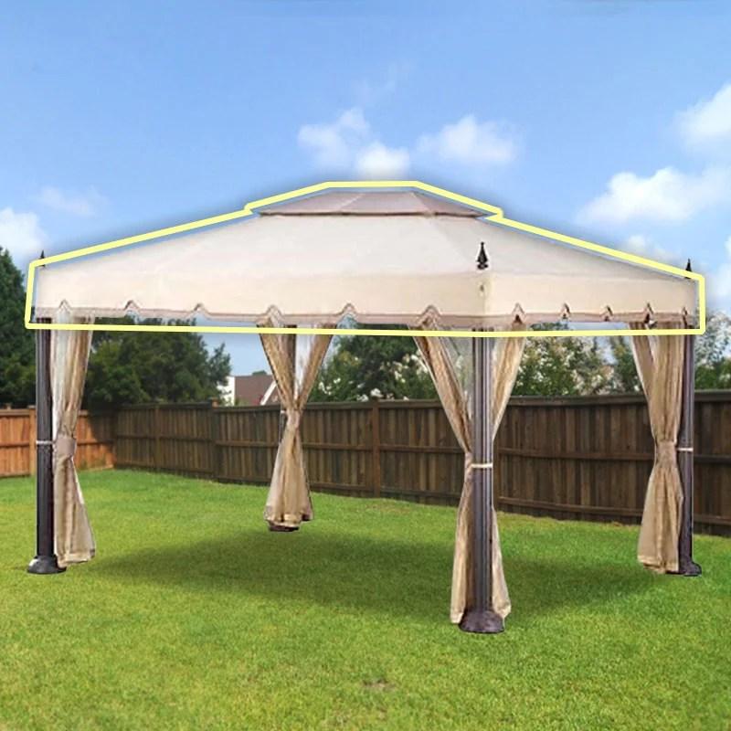 garden winds replacement canopy top for home depot s mediterra gazebo 10 x12