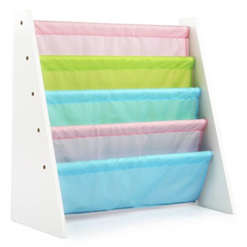 tot tutors kids book rack storage bookshelf white pastel pastel collection