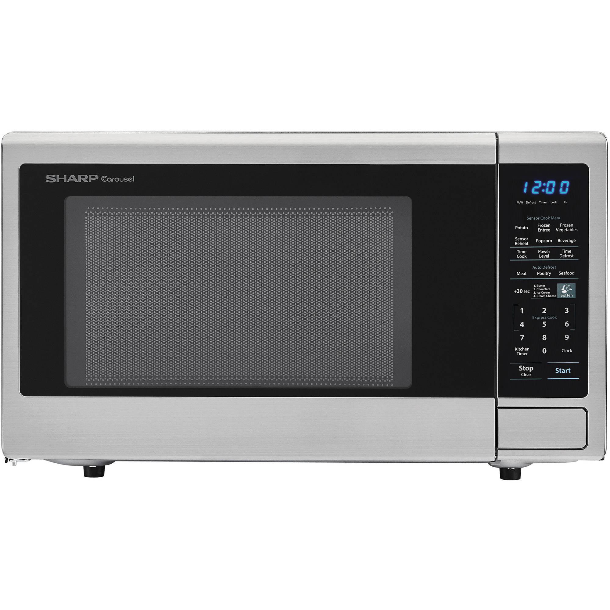 sharp zsmc1842cs 1 8 cu ft microwave stainless steel