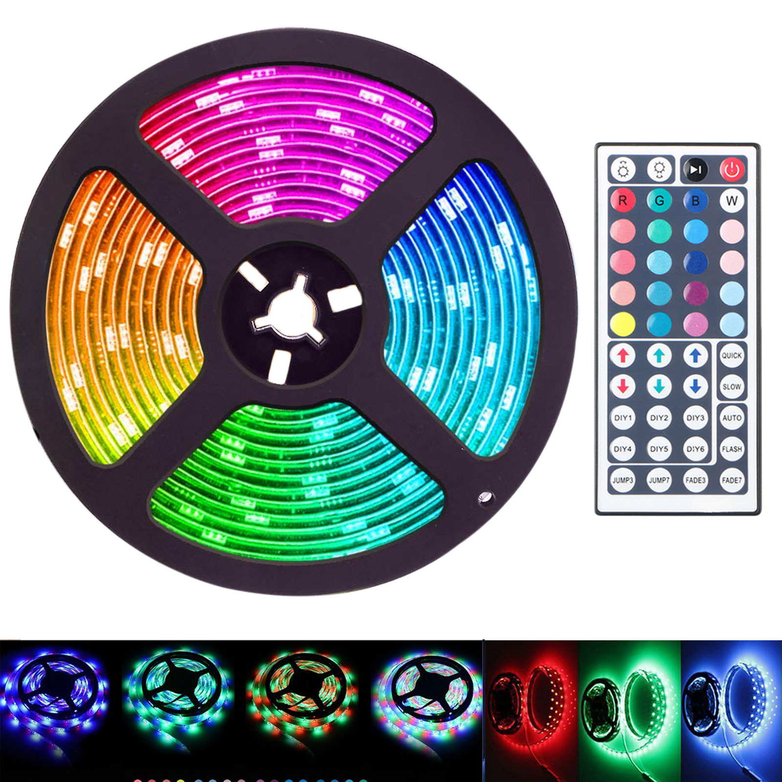 16 4 Feet Flexible 300 Led Light Strip Smd Color