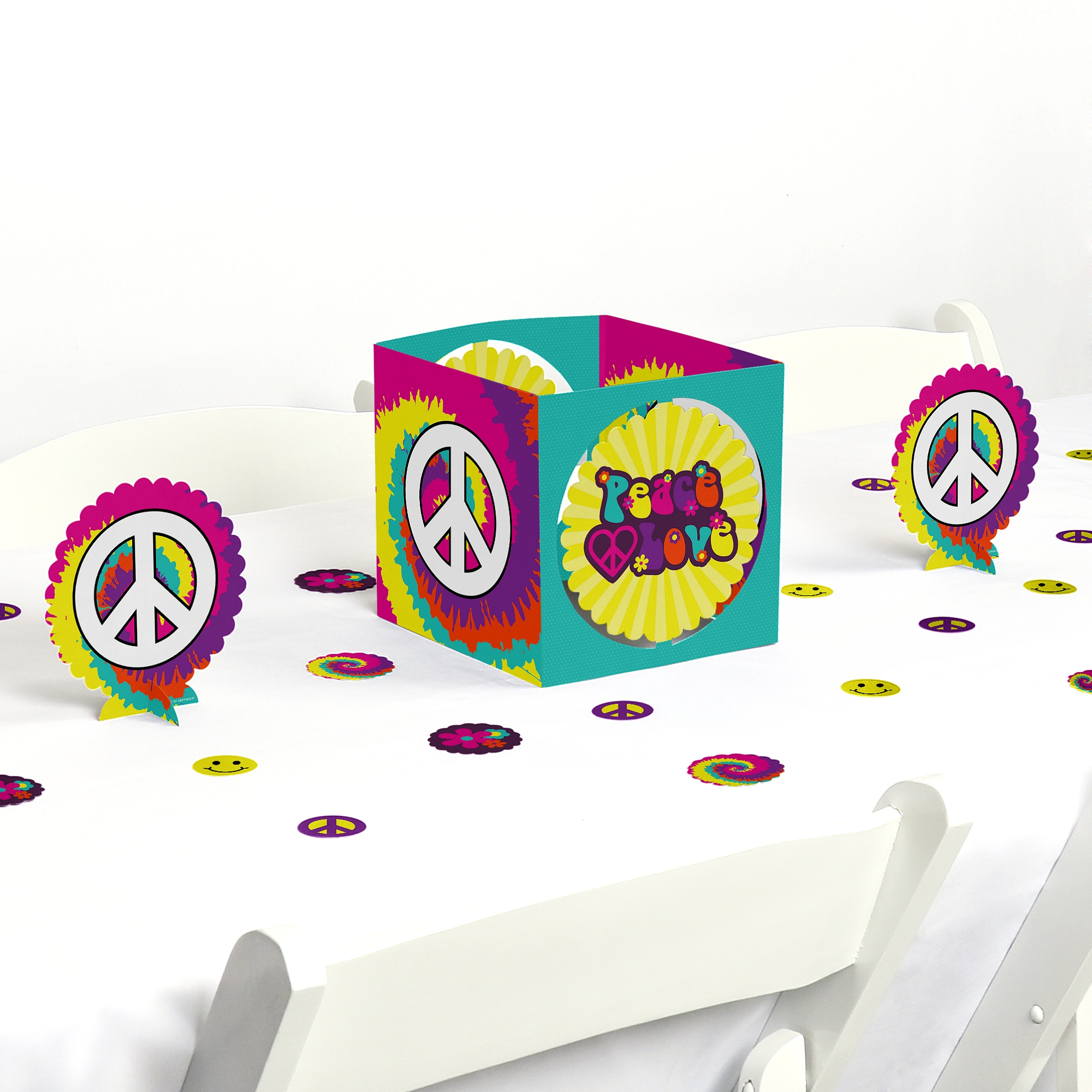 60 S Hippie 1960s Groovy Party Centerpiece Table Decoration Kit Walmart Com Walmart Com