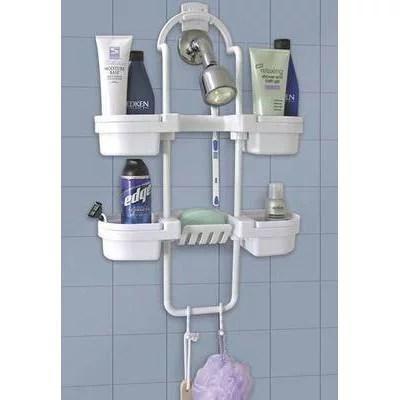 hang on up bath shower rack organizer caddy storage shelf soap shampoo holder