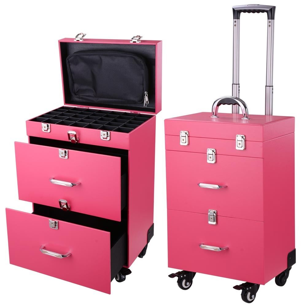 Makeup Train Case With Wheels