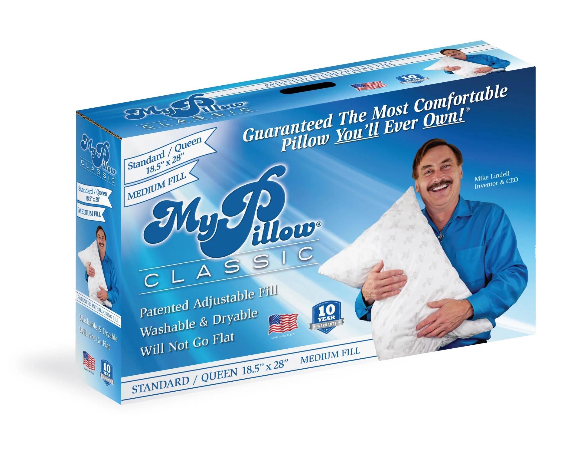 mypillow classic queen size pillow medium support