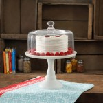 The Pioneer Woman Timeless Beauty 10 Inch Milk White Cake Stand With Glass Cover Walmart Com Walmart Com
