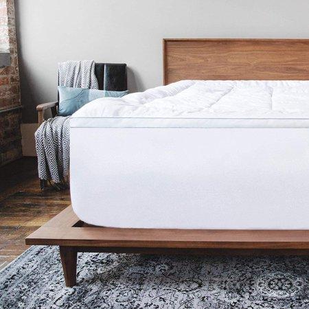 viscosoft 4 inch pillow top memory foam mattress topper queen serene lux dual layer mattress pad