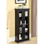 Walker Edison Cd Dvd Blu Ray Black Media Tower Storage Cabinet Walmart Com Walmart Com