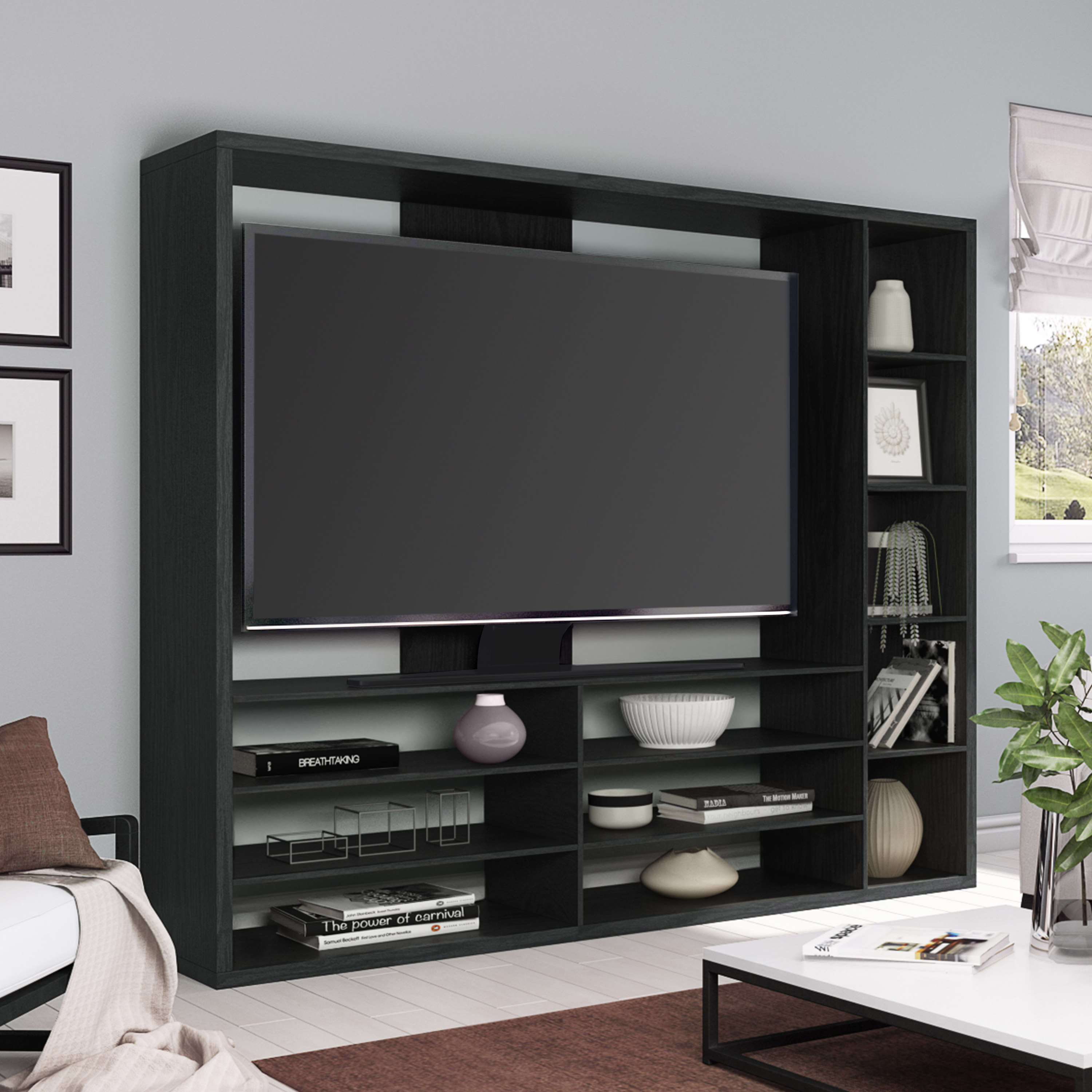 mainstays entertainment center for tvs up to 55 ideal tv stand for flat screens multiple finishes