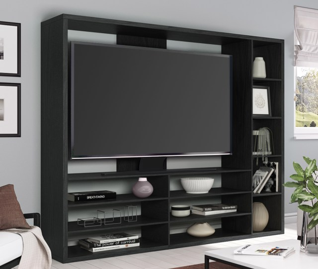 Mainstays Entertainment Center For Tvs Up To 55 Ideal Tv Stand For Flat Screens Multiple Finishes Walmart Com