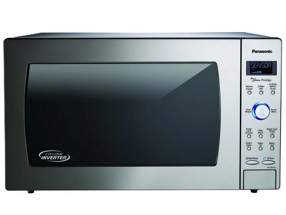 panasonic 2 2 cu ft built in countertop cyclonic wave microwave oven with inverter technology stainless steel