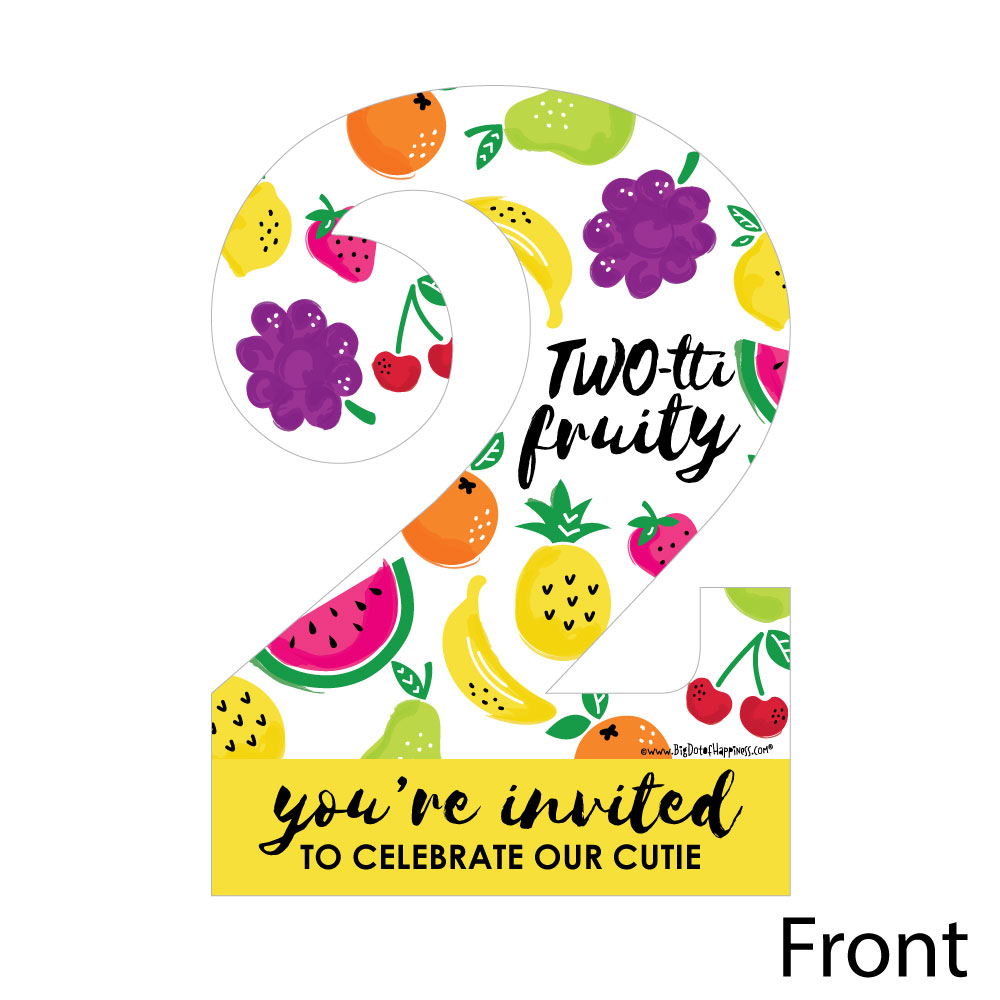 two tti fruity 2nd birthday shaped fill in invitations frutti summer second birthday party invitation 12 ct