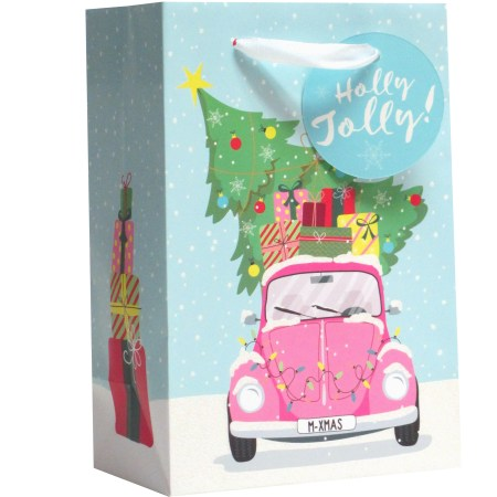 Holiday Time Jr Cub Gift Bag Vw In Snow