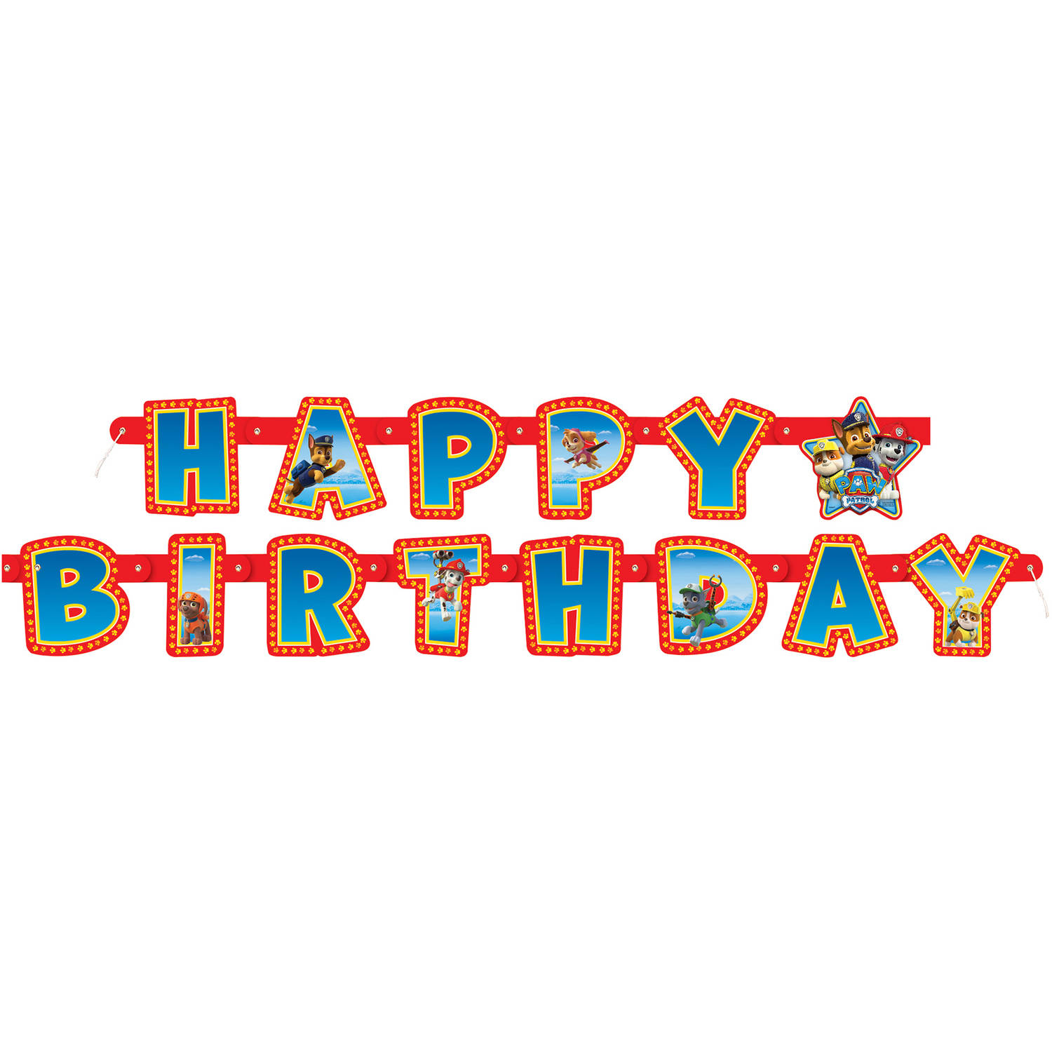 Paw Patrol Birthday Banner 6 25 Ft 1ct
