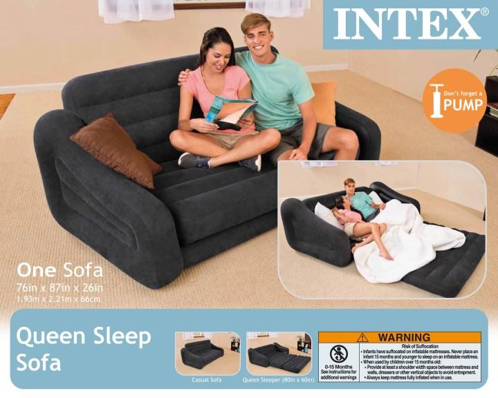 Intex Pull Out Sofa Air Bed Centerfordemocracyorg - Air mattress sleeper sofa