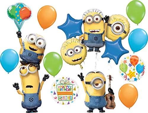 Minions Party Supplies Despicable Me Birthday Balloon Bouquet Decorations Walmart Com Walmart Com