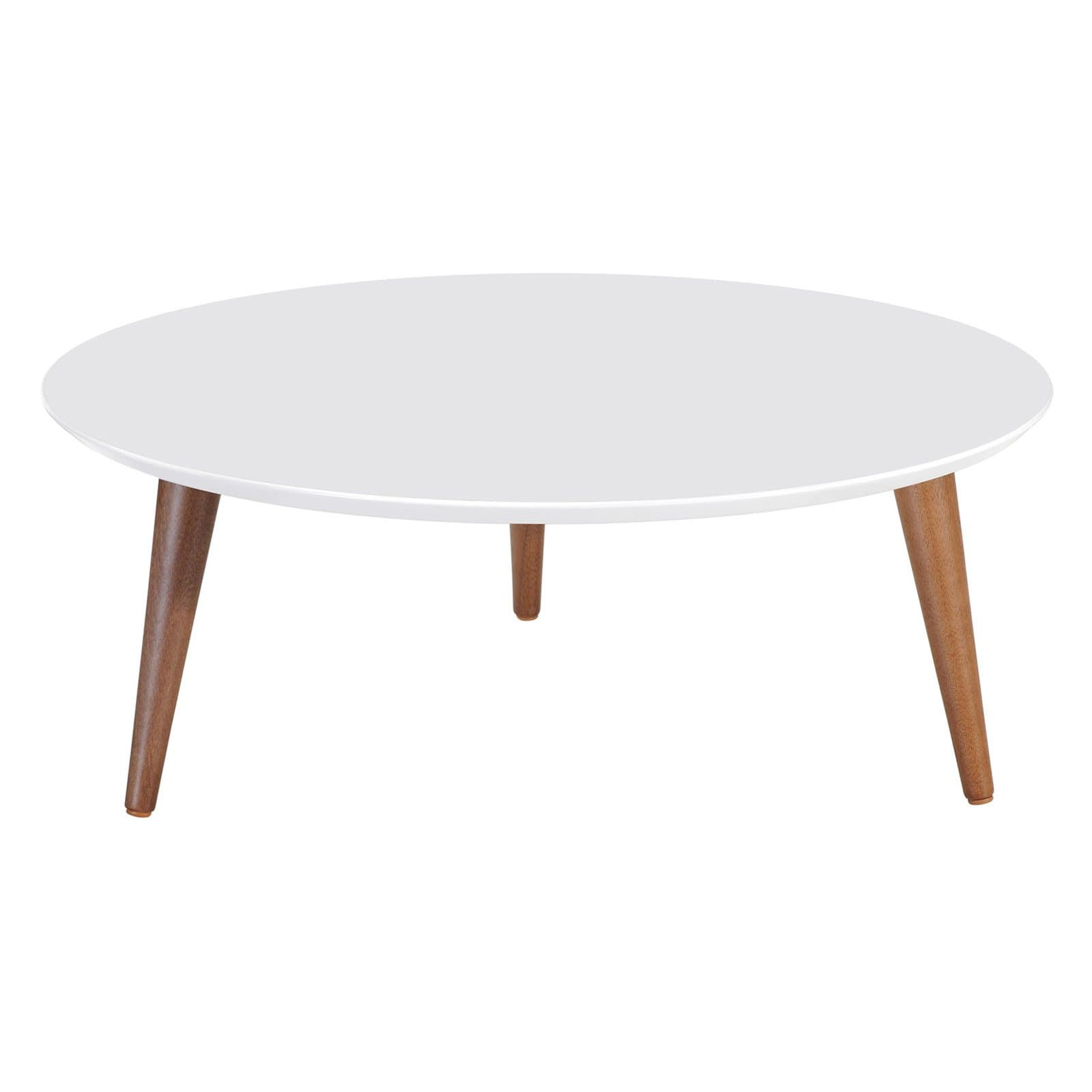 moore 31 49 round low coffee table in white