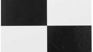 NEXUS Black White 12x12 Self Adhesive Vinyl Floor Tile