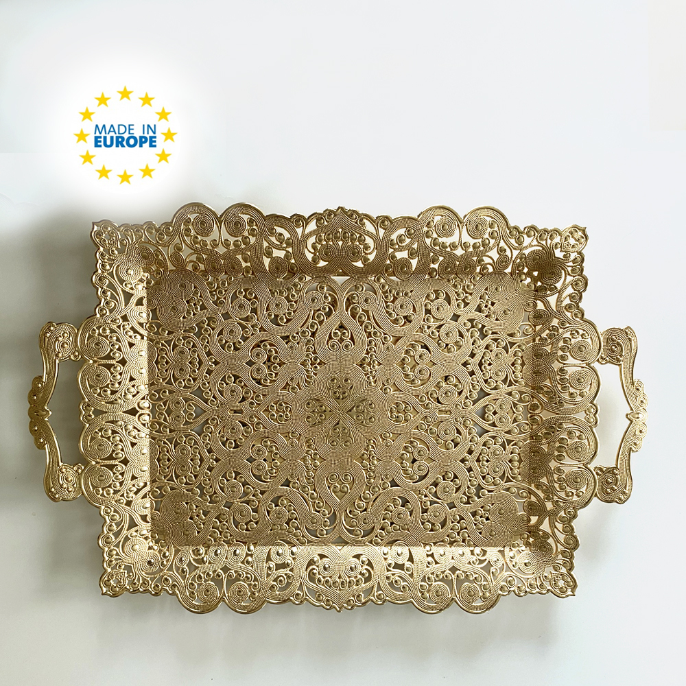 fancy ottoman serving tray luxury decorative coffee table tray 16 5 in