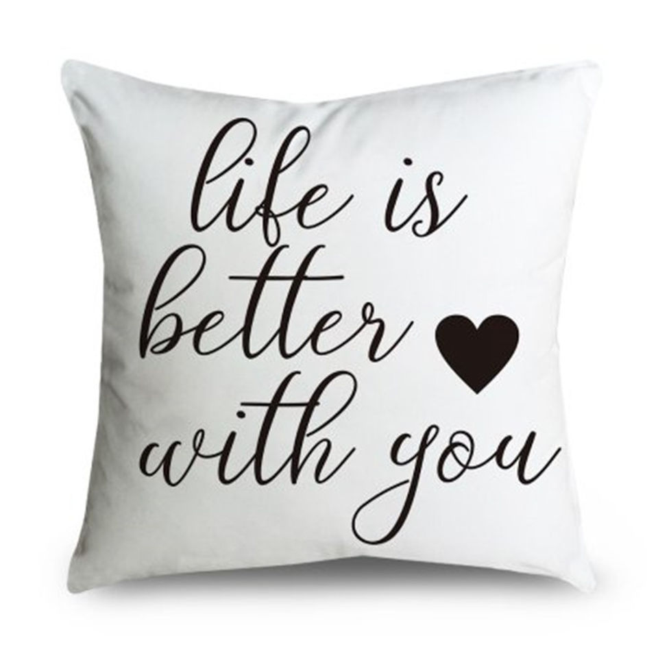 gorgeous parrent throw pillow cover 18 inch quote words square decorative canvas cushion cover throw pillowcase for couch life is better with you
