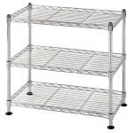 Muscle Rack 18 W X 10 D X 18 H 3 Tier Steel Wire Shelving Unit 264 Lb Capacity Chrome Walmart Com