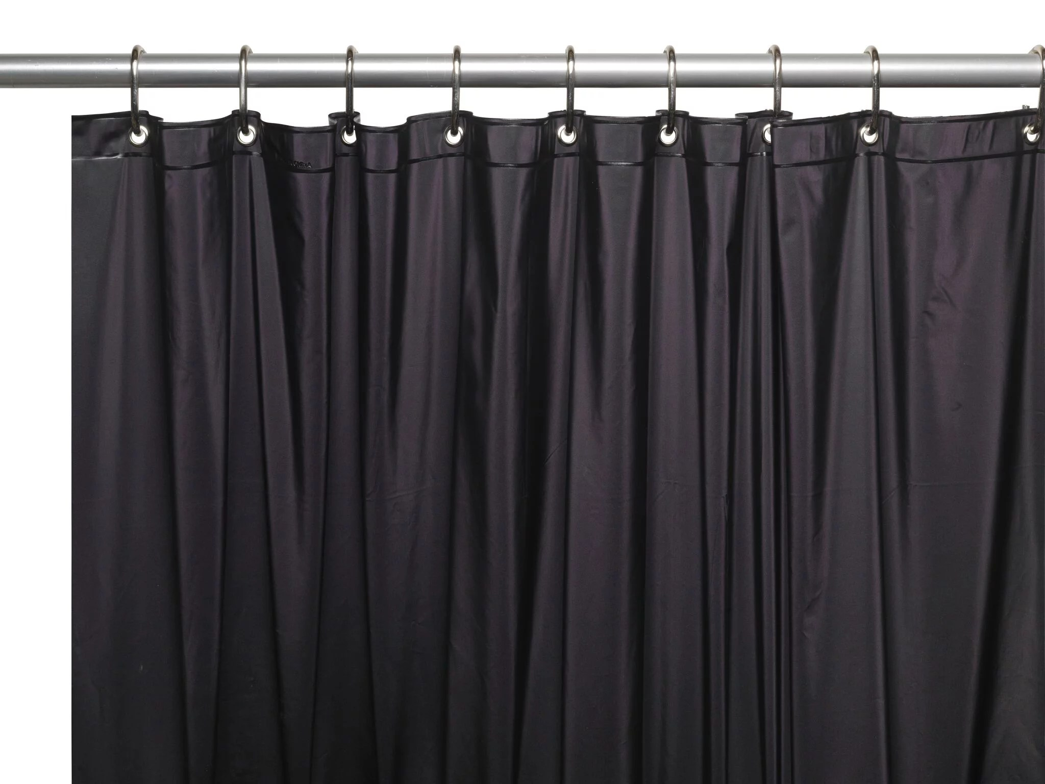 hotel collection premium heavy duty vinyl shower curtain liner with metal grommets black