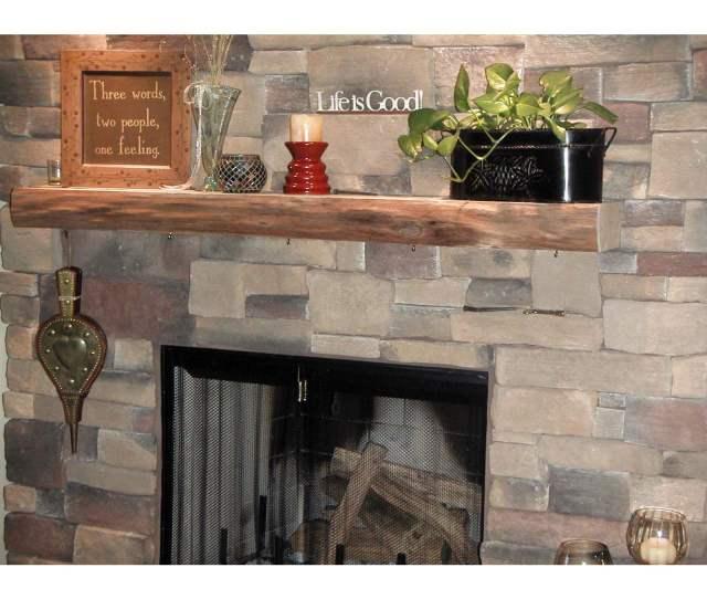 Kettle Moraine Hardwoods Morton Rustic Fireplace Mantel Shelf Walmart Com