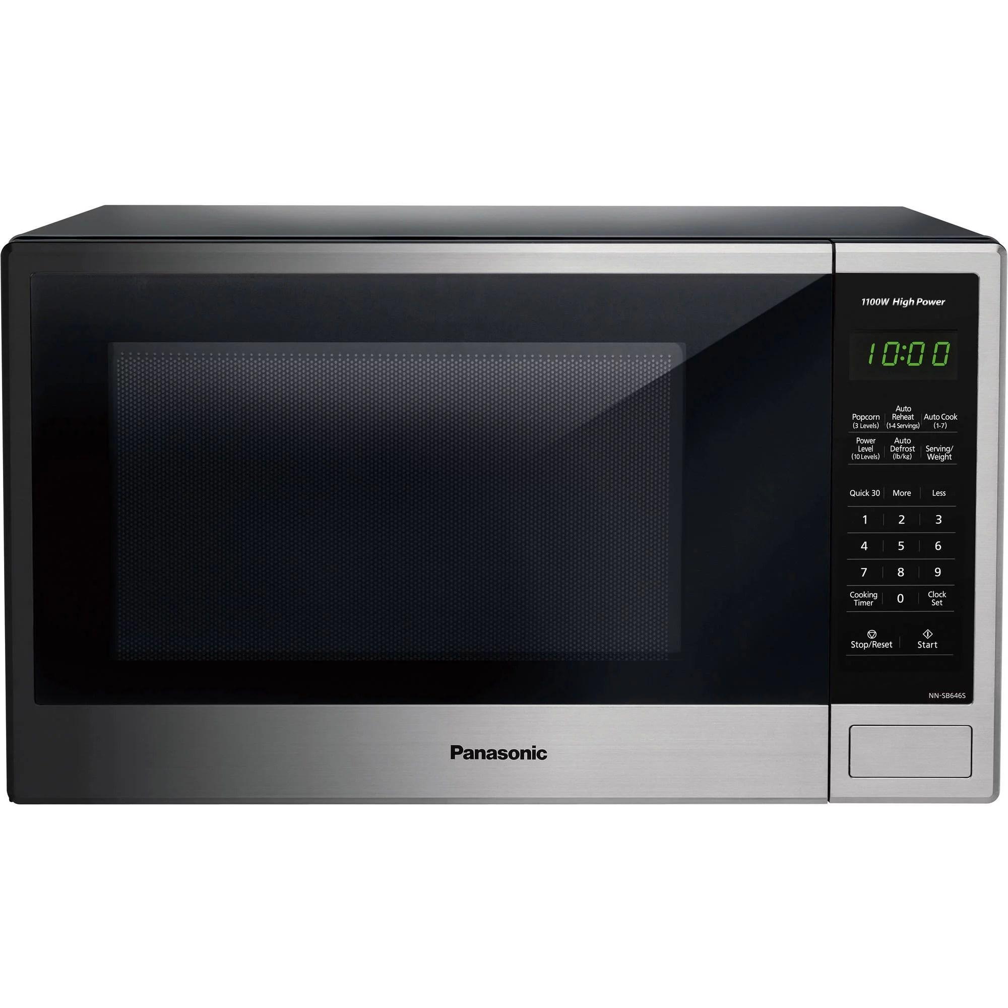 panasonic 1 3 cu ft 1100w countertop stainless steel microwave oven with genius sensor walmart com