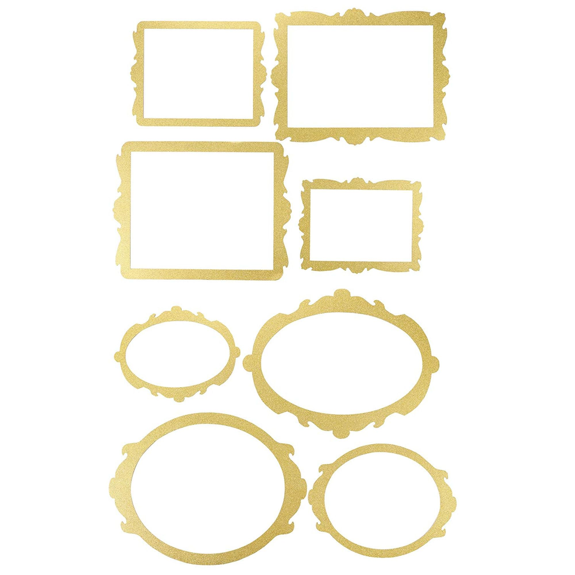 Blue Panda Photo Booth Frame 8 Pack Gold Glitter Picture Frame Party Supplies Selfie Frame Cutouts Party Favors For Wedding Birthday Party Bridal Shower Bachelorette Party Walmart Com Walmart Com