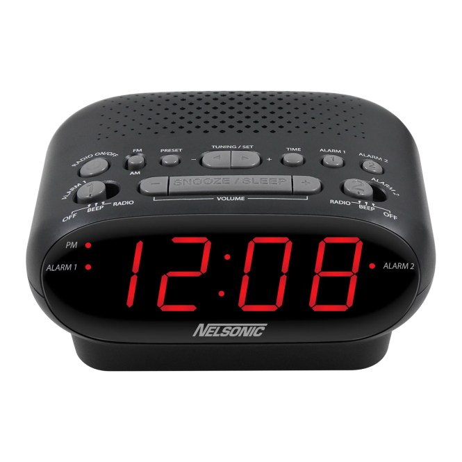 Nelsonic Am Fm Digital Tuning Clock