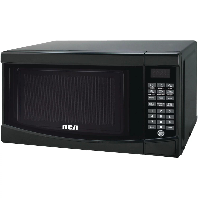 rca 0 7 cu ft microwave oven black