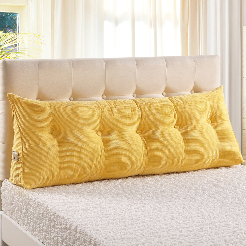 large filled triangular sofa bed back cushion positioning support backrest pillows reading pillows with removable cover yellow twin