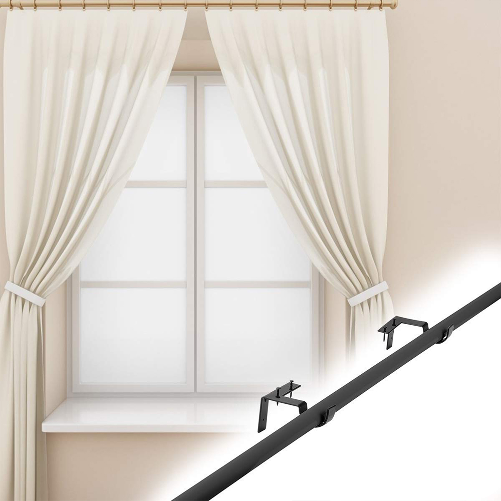 single curtain rod brackets curtain rod holders tap right into window frame curtain rod hang curtain brackets for window bedroom home decoration
