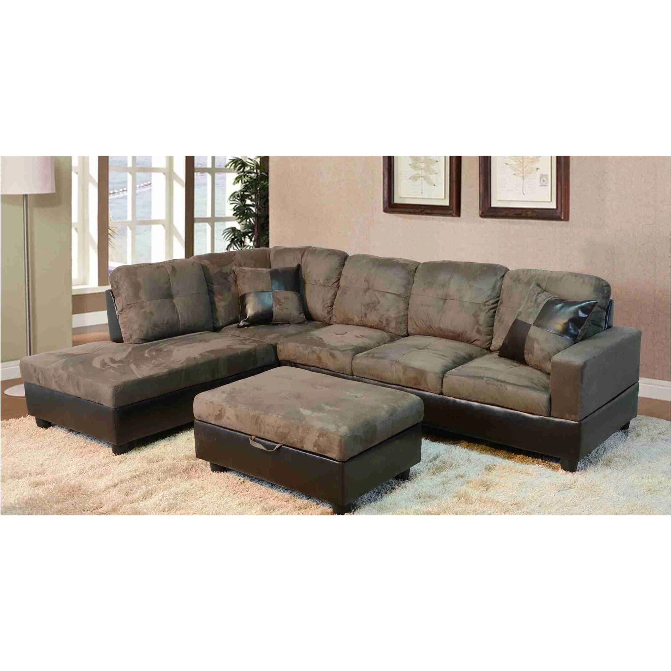 lifestyle furniture lf102a avellino left hand facing sectional sofa olive green 35 x 103 5 x 74 5 in