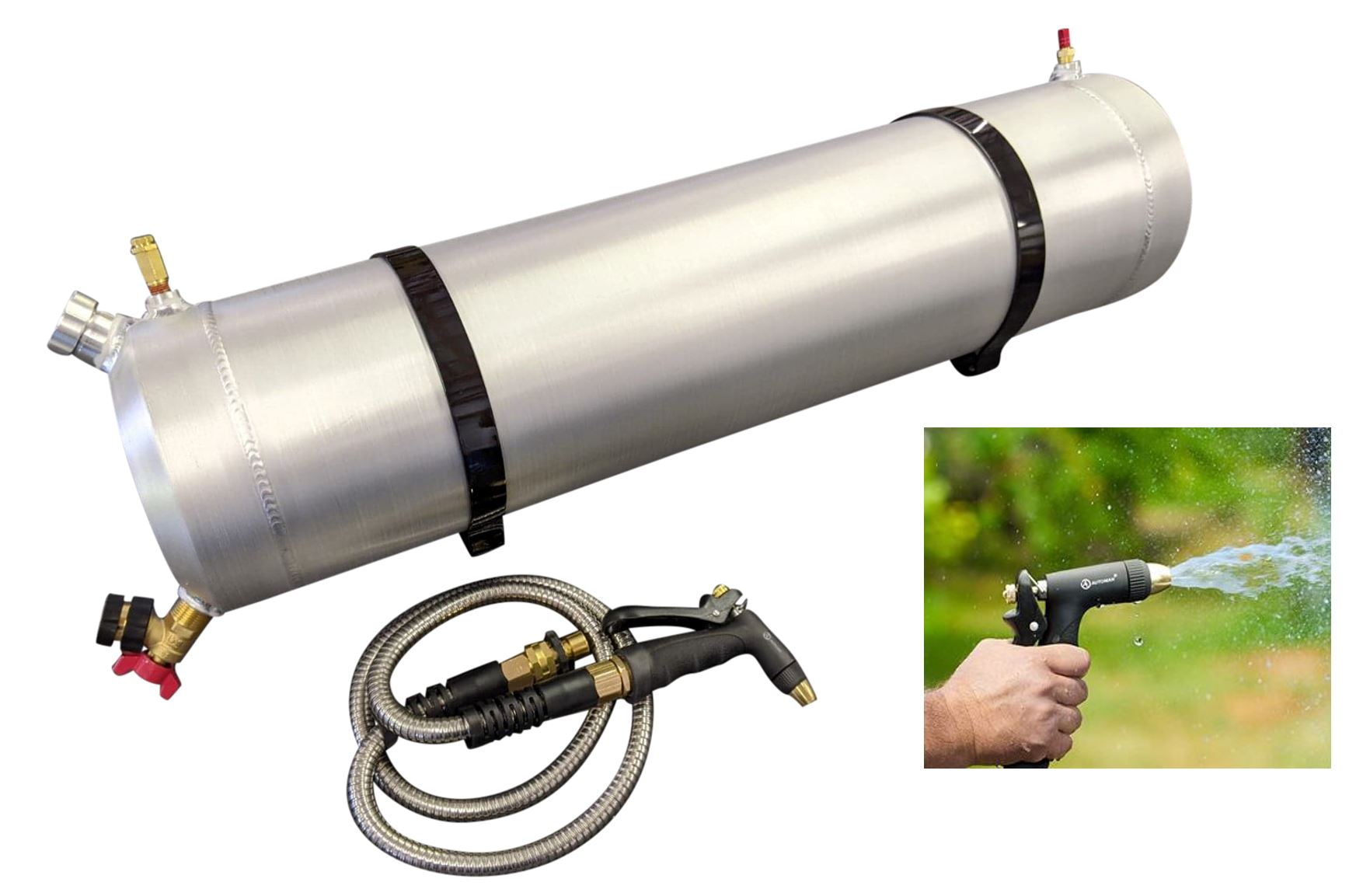 https www walmart com ip offroad solar shower tube air pressurized 10 gallon portable camping roof rack shower overlanding 115762797