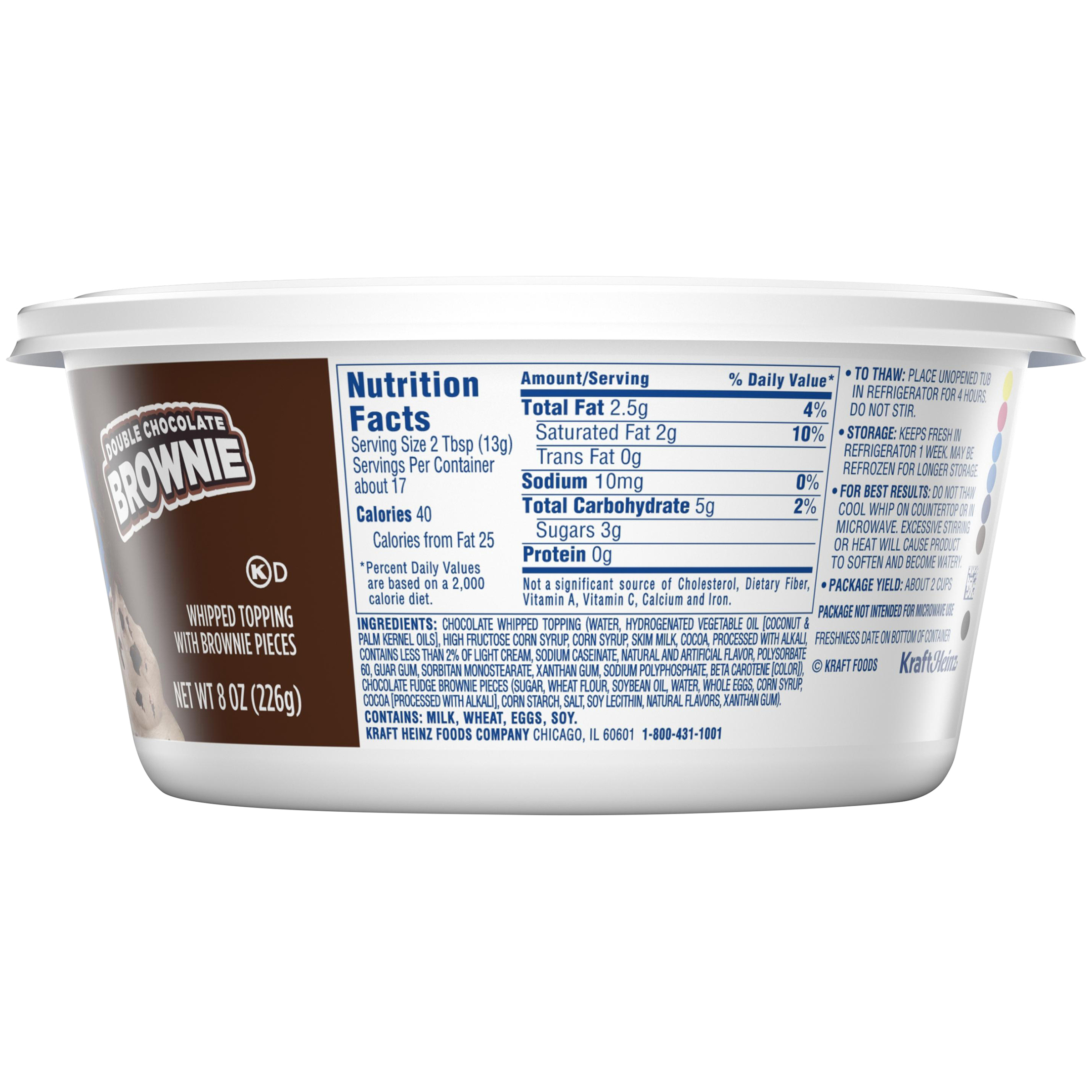 Cool Whip Nutrition Label Juleteagyd