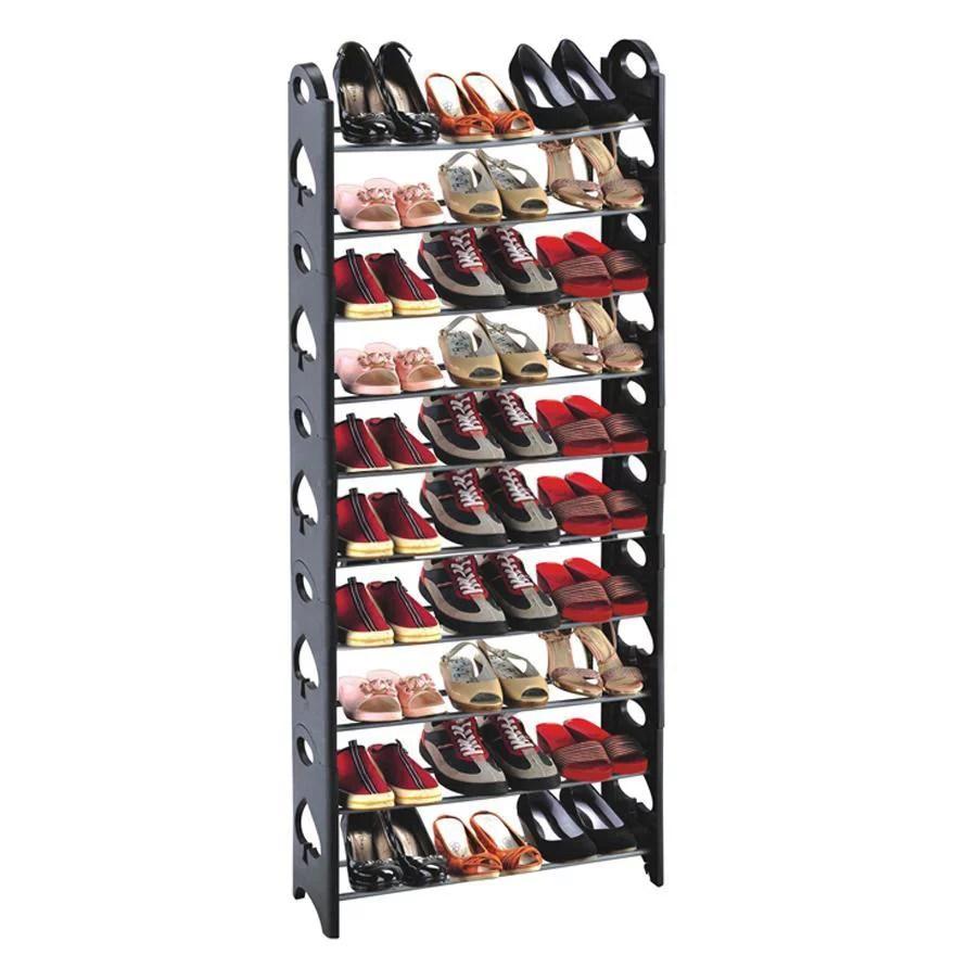 50 pair shoe rack storage organizer 10 tier portable wardrobe closet bench tower stackable adjustable shelf strong sturdy space saver wont weaken