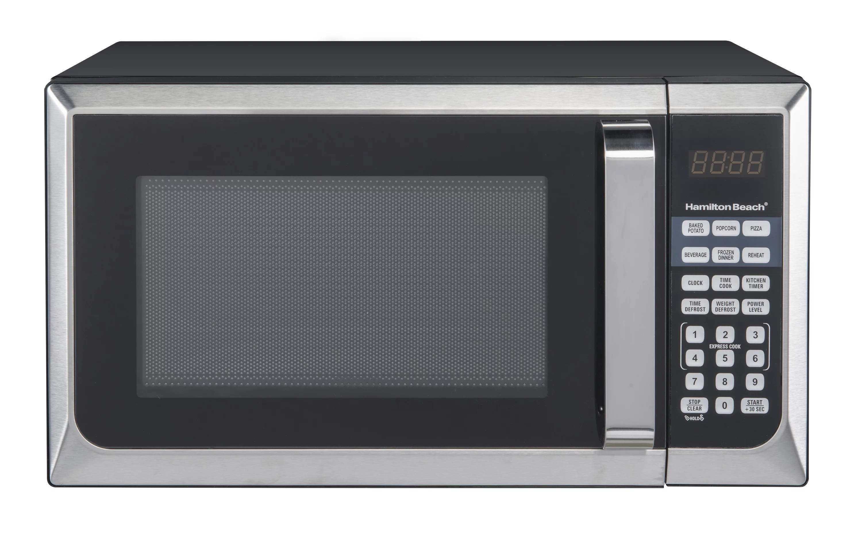 hamilton beach 0 9 cu ft stainless steel countertop microwave oven walmart com