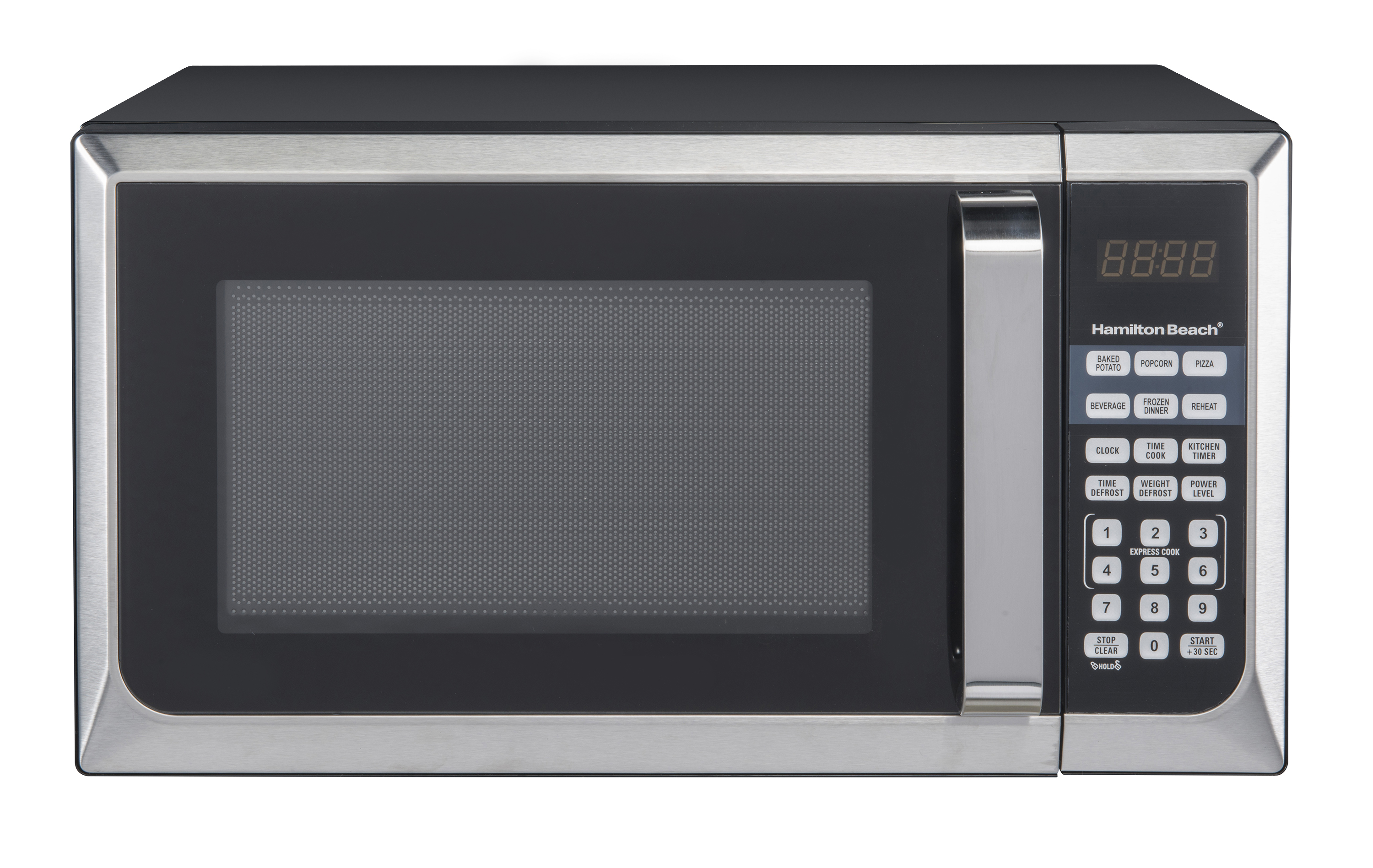 hamilton beach 0 9 cu ft stainless steel countertop microwave oven