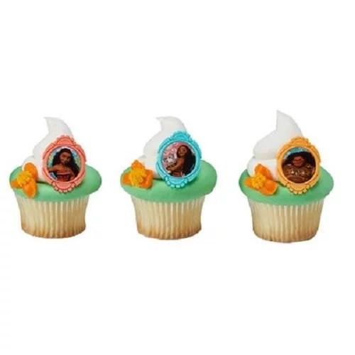 24 Moana Movie Cupcake Cake Rings Birthday Party Favors