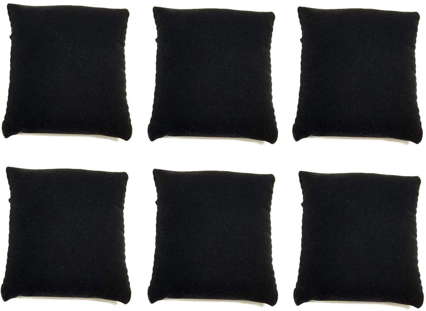 small bracelet watch pillow black velvet jewelry displays jewelry pillow velvet small watch pillows velvet bracelet pillow set 3 w x 3 d pack of