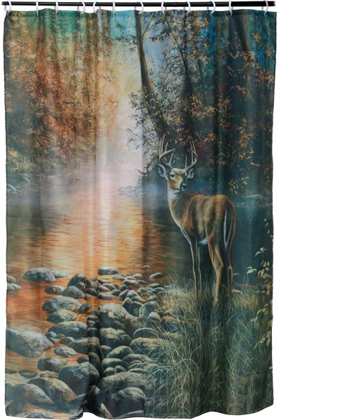 river s edge products deer shower curtain