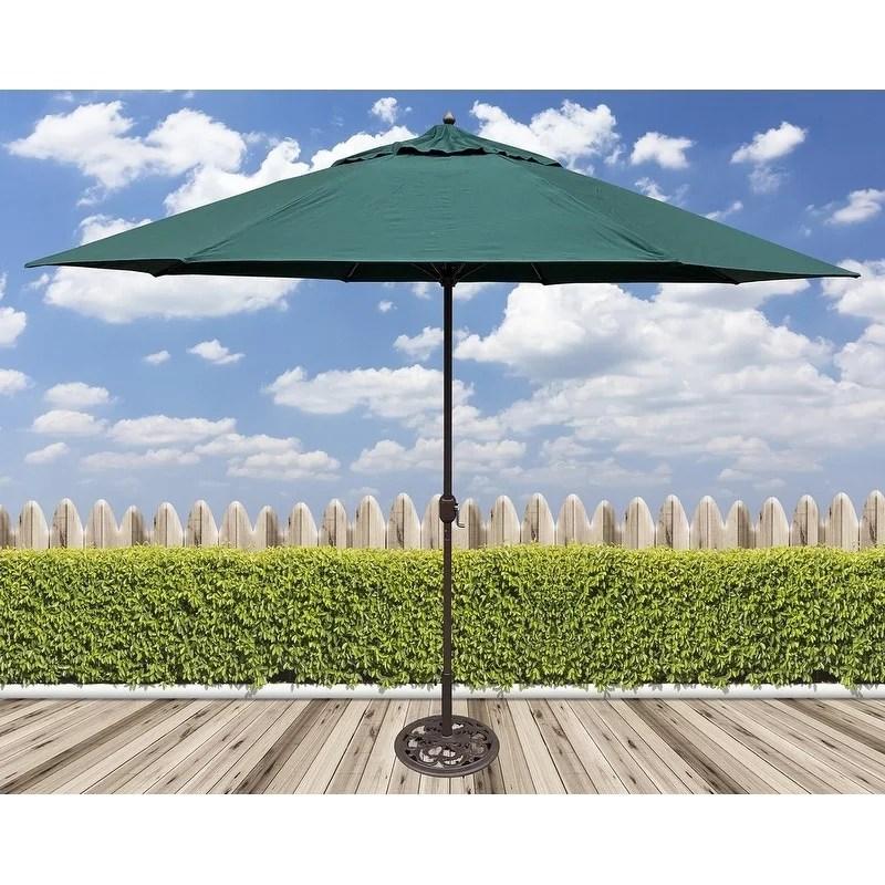 tropishade 11 umbrella with premium green olefin cover