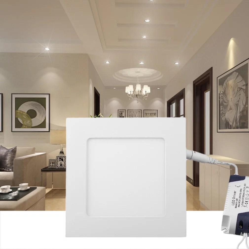 filmy 9w led square recessed ceiling panel down light bulb lamp 110v 146mm dc24 48v warm nature cool white 3200k 4000k 6500k walmart com
